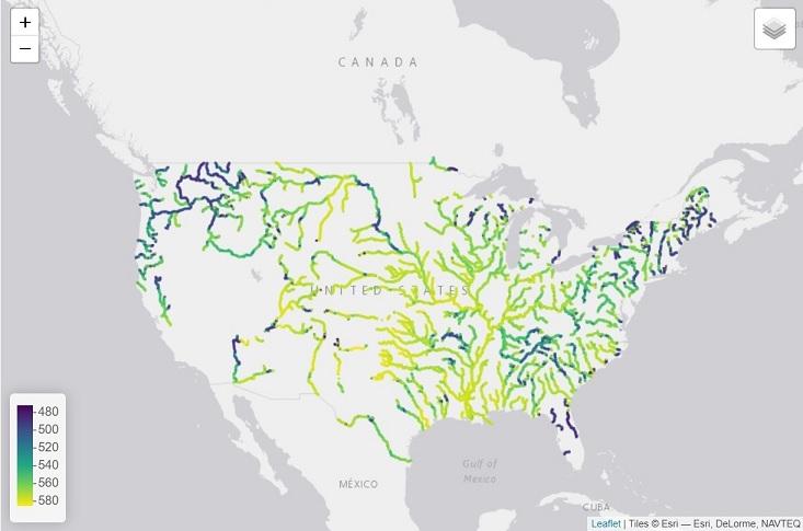 В США реки меняют цвет