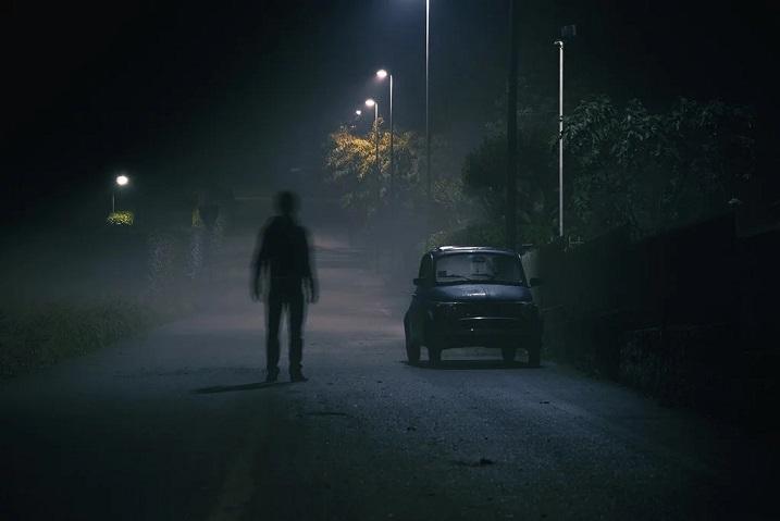 Автопилот Tesla зафиксировал идущего человека на пустом кладбище