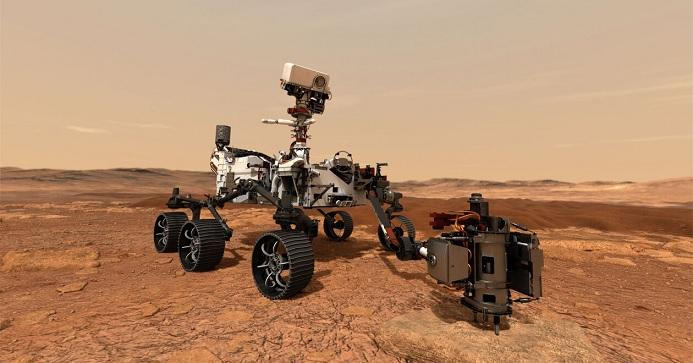 Марсоход Perseverance отправил первые снимки на Землю
