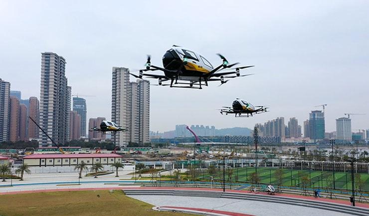 В Китае начата сертификация беспилотных аэротакси EHang EH216