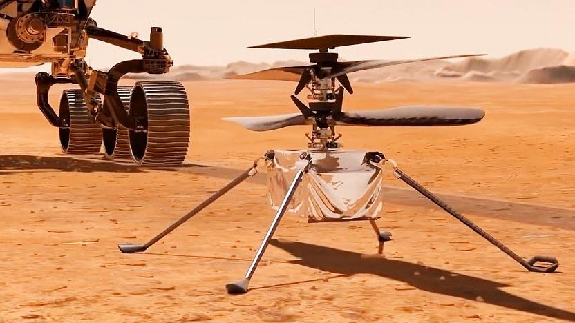 Впервые в истории испытали вертолёт на Марсе (ВИДЕО)