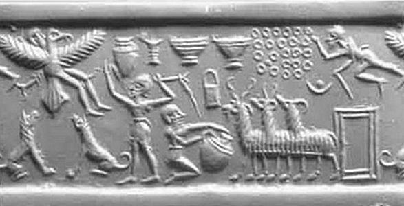 Шумерская легенда о царе Этане, побывавшего на небесах у Богов