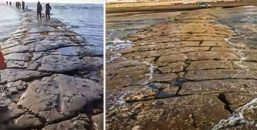 Таинственная каменная дорога внезапно всплыла на побережье Сахалина