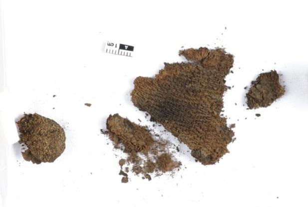 Археологи нашли в женском захоронении редкую шерстяную ткань