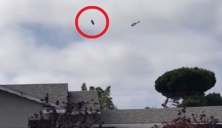 Полицейский вертолет преследовал НЛО в небе над Лос-Анджелесом