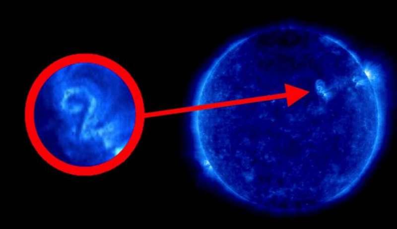 На Солнце обнаружена цифра «2»