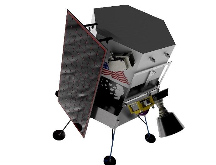 Прыгающего робота доставят на южный полюс Луны