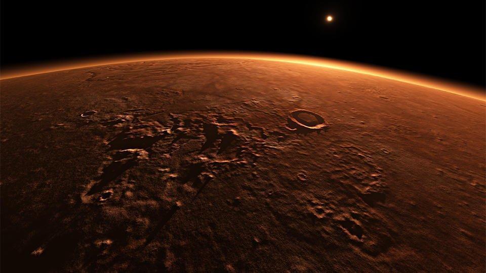 Астрофизики объяснили присутствие воды на Марсе