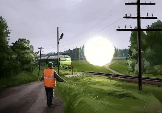 НЛО больше часа тащил за собой грузовой поезд