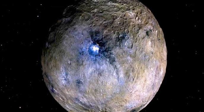 Следы ледяной корки обнаружены в одном их кратеров на Церере