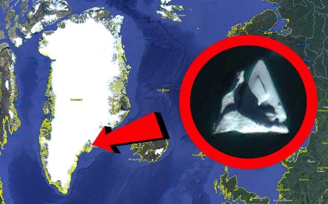 Уфолог разглядел «древний инопланетный корабль» у берегов Гренландии