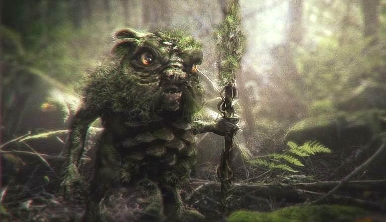 Загадочное существо запечатлели в лесу Дагестана