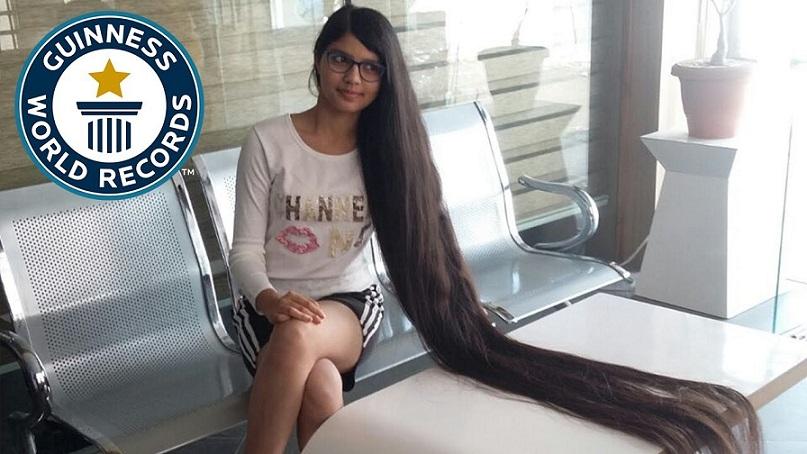 Девушка отрастила самые длинные в мире волосы