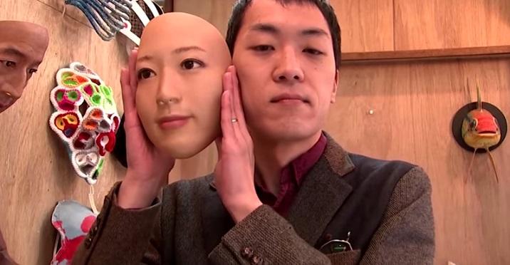 В Японии создали «живые» маски с человеческими лицами