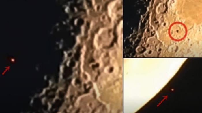 Огромный НЛО пролетел возле Луны