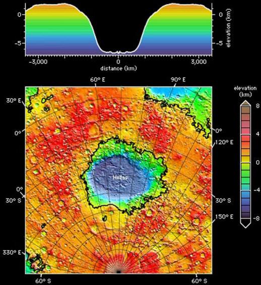 Гигантское марсианское озеро