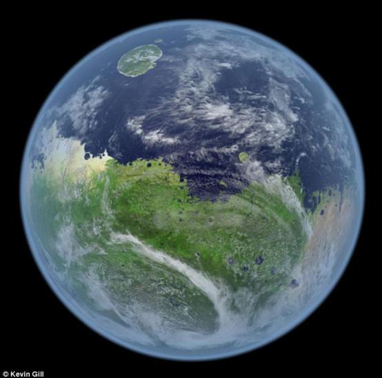 Таким Марс был в далеком прошлом