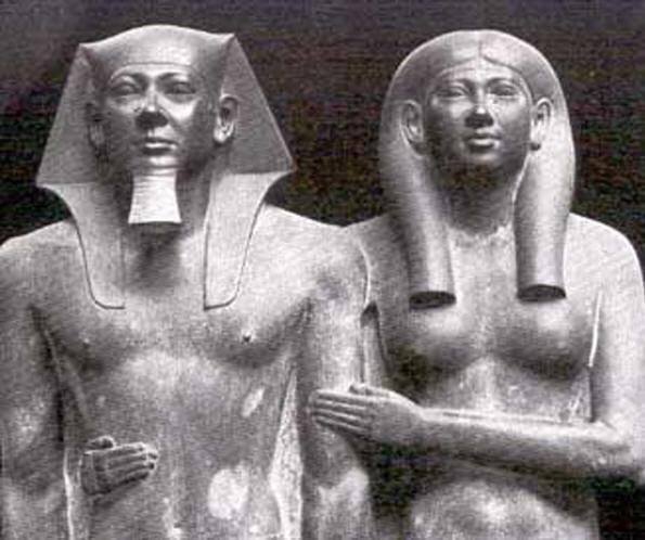 Фараон Менкор и его супруга, Хемерернебти II, 4-я Династия (2575-2467 гг. до н.э.)