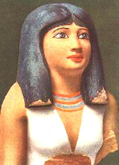 Бюст египетской благородной дамы 4-й династии, приблизительно 2600 г. до н.э.