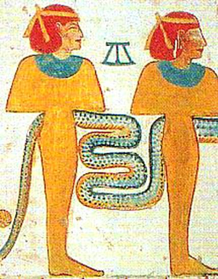 ыжеволосые богини, из могилы фараона Мернептаа (Merneptah)