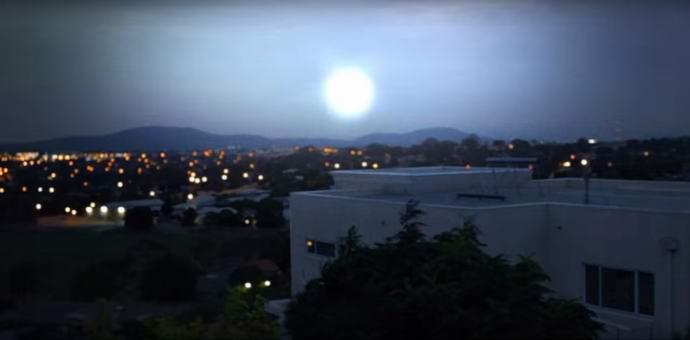 В Канберре засняли поразительный НЛО