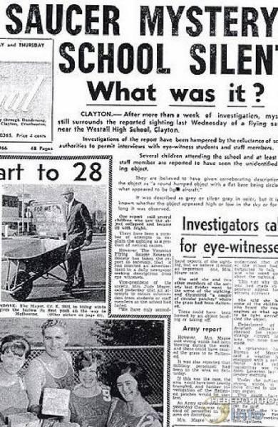 Приближается пятидесятилетие знаменитого Уэстолского появления НЛО в Австралии (3 фото + видео)
