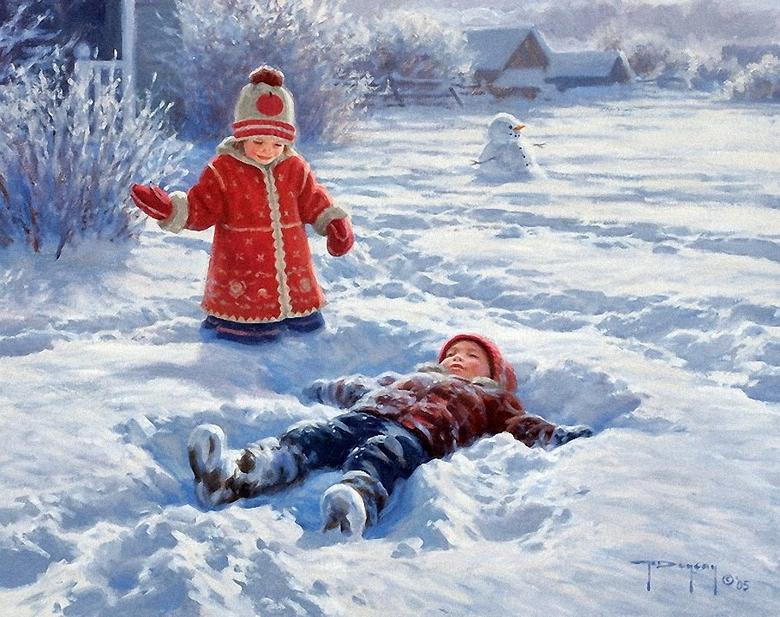 Зимние картины, которые наполнены счастьем