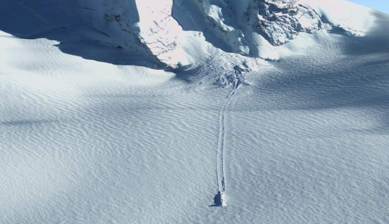 Загадочный след нашли в снегах Субантарктики