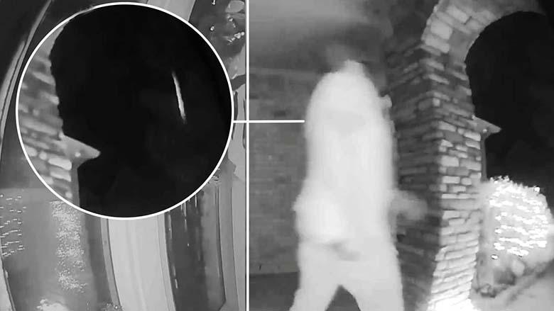 Камера видеонаблюдения фиксирует момент похищения хозяина дома инопланетянами