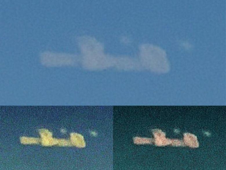 Облако необычной формы над Аляской