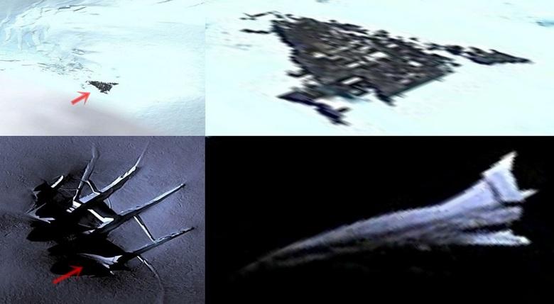 В Антарктиде уфологи нашли сразу два НЛО