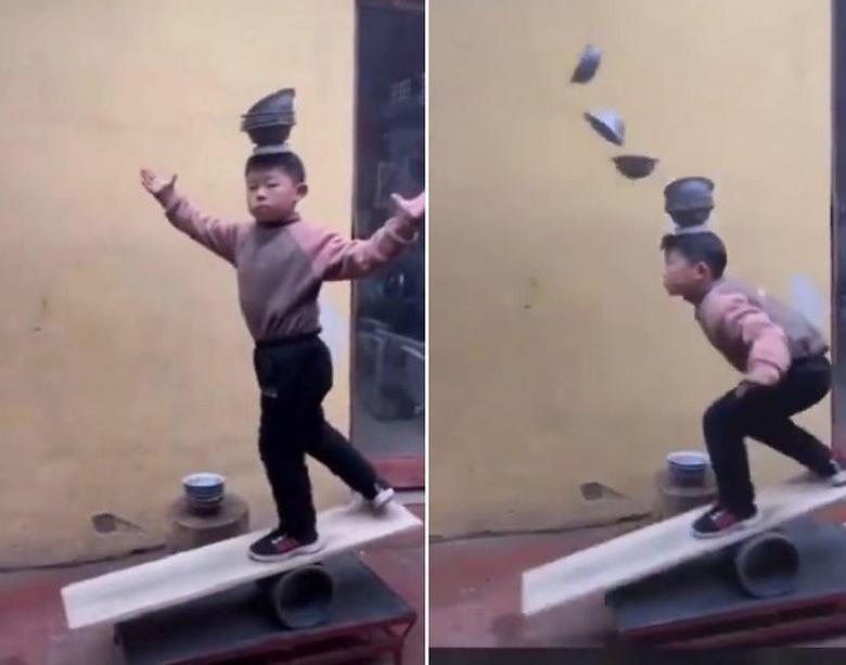 Юный циркач Китая восхищает пользователей интернета