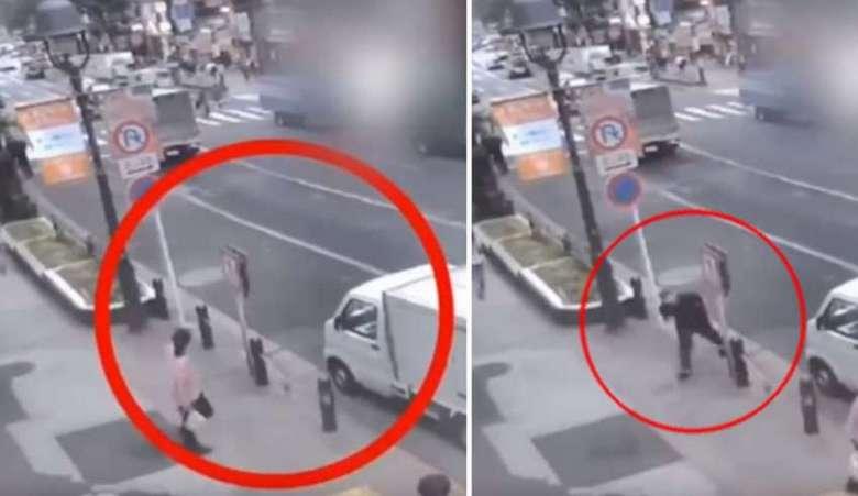 Камера видеонаблюдения зафиксировала появление человека из «неоткуда»