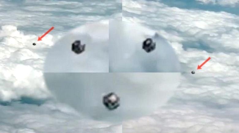 Пилот Viva Colombia снял на видео загадочный куб в небе