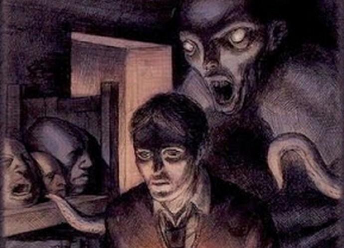 Видеокамера зафиксировала, как призрак вселяется в человека