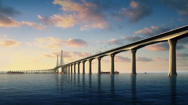 Завершено строительство самого длинного в мире морского моста