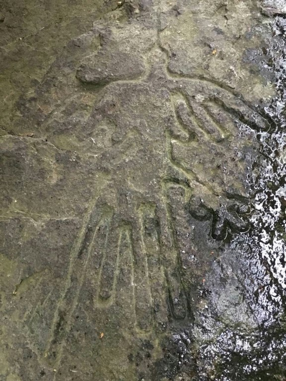 В России обнаружен петроглиф, напоминающий рисунок с плато Наска