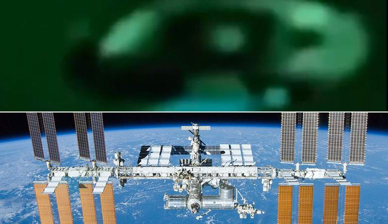Камера МКС уловила металлический диск, пролетевший над Землей