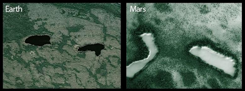 Кто выглядывает из-за «марсианской» скалы, но Марс ли это?
