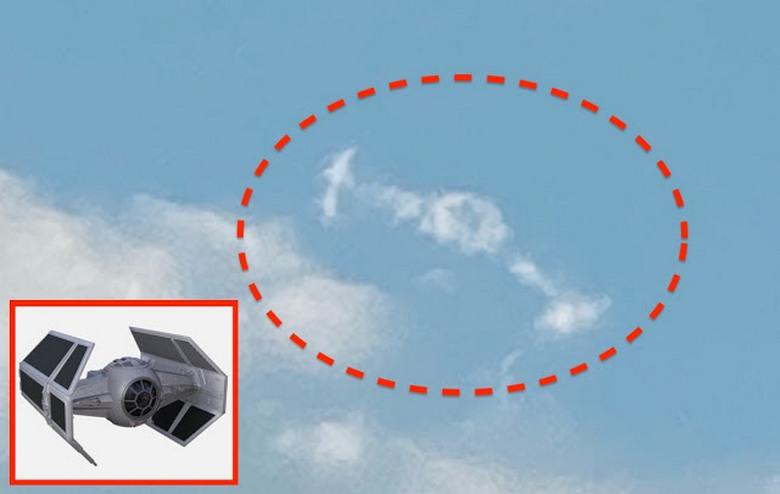Загадочное облако над небоскребом Тайбэй