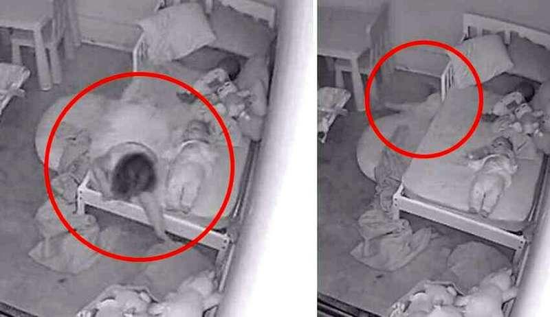 Маленькая девочка и призрак под кроватью
