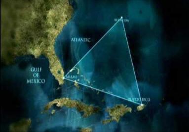 Карта с Бермудским треугольником
