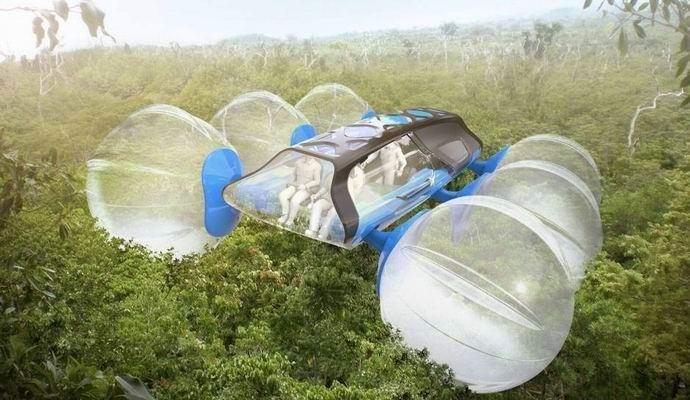 Удивительная машина позволит кататься по кронам деревьев