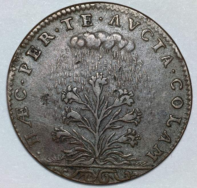На старинной французской монете обнаружили летающую тарелку (3 фото)
