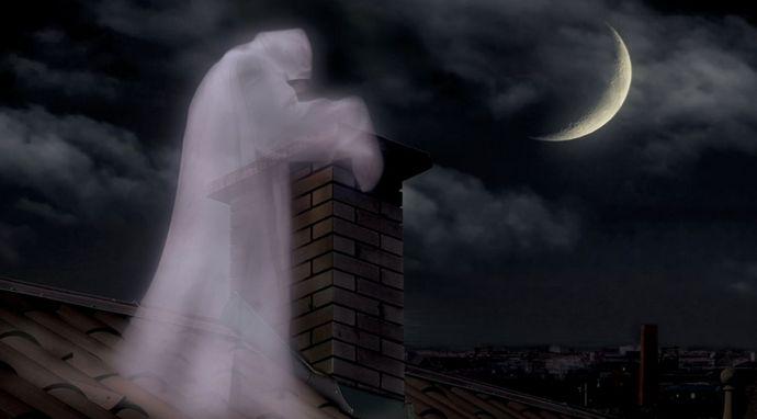 Белый призрак промелькнул перед камерой наблюдения