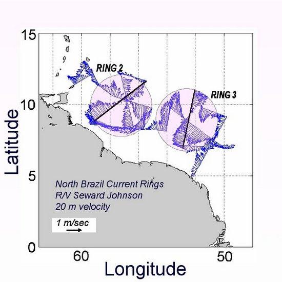 В Атлантике обнаружены два гигантских водоворота