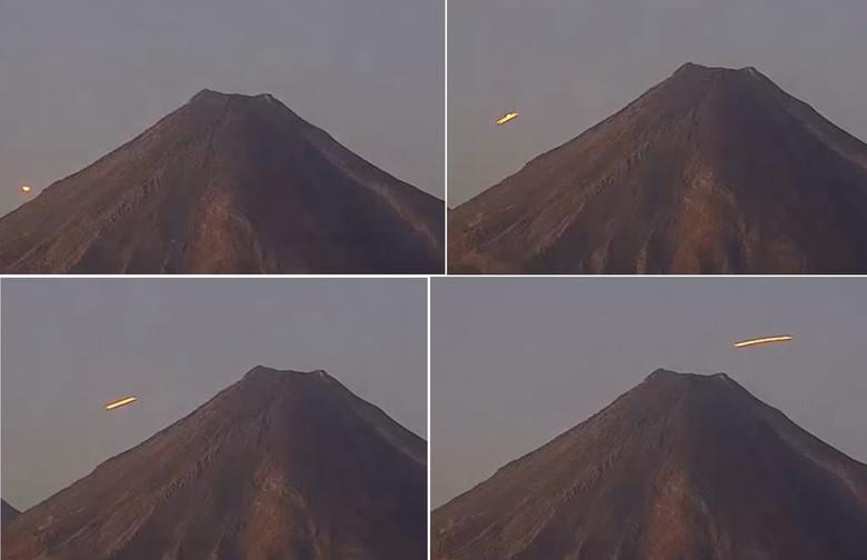 Мексиканский вулкан Колима снова порадовал уфологов