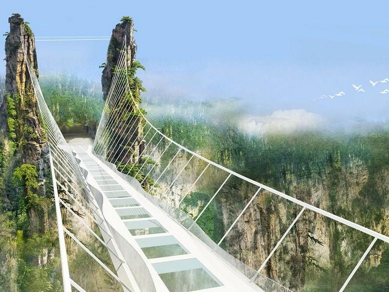 Знаменитые стеклянные мосты Китая: теперь появился самый высокий