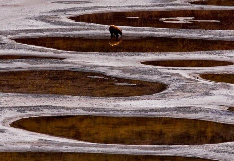 Необычное пятнистое озеро Клилук