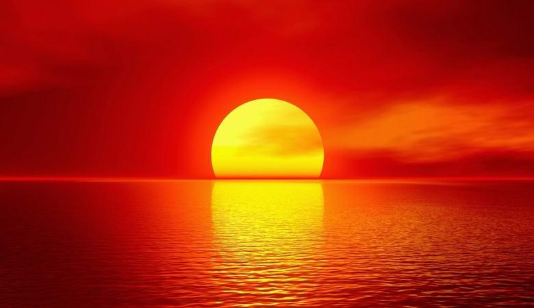Непонятный закат «посреди океана» удивил очевидцев